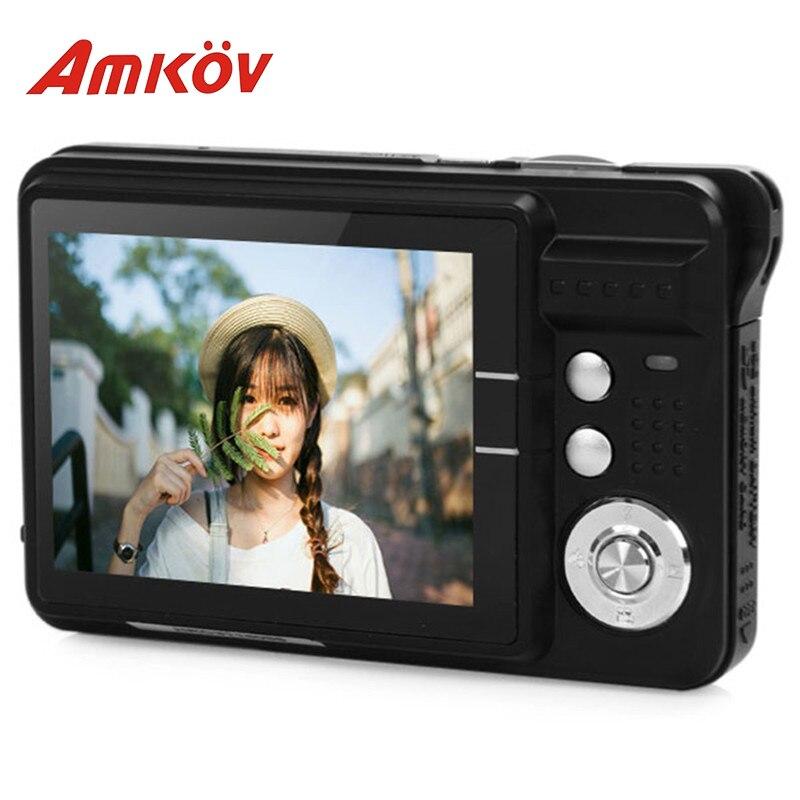 Amkov AMK-CDC3 caméras professionnelles 2.7 ''TFT 8mp aluminium + plastique Support multi-langue Mini caméra Photo caméra HD avec câble