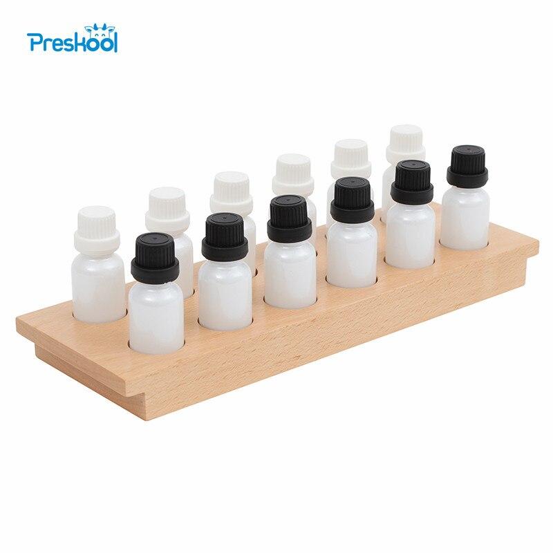 Preskool Montessori jouets pour enfants jouets éducatifs planche en bois avec boîtes odorantes enfants jouet Brinquedo Juguetes