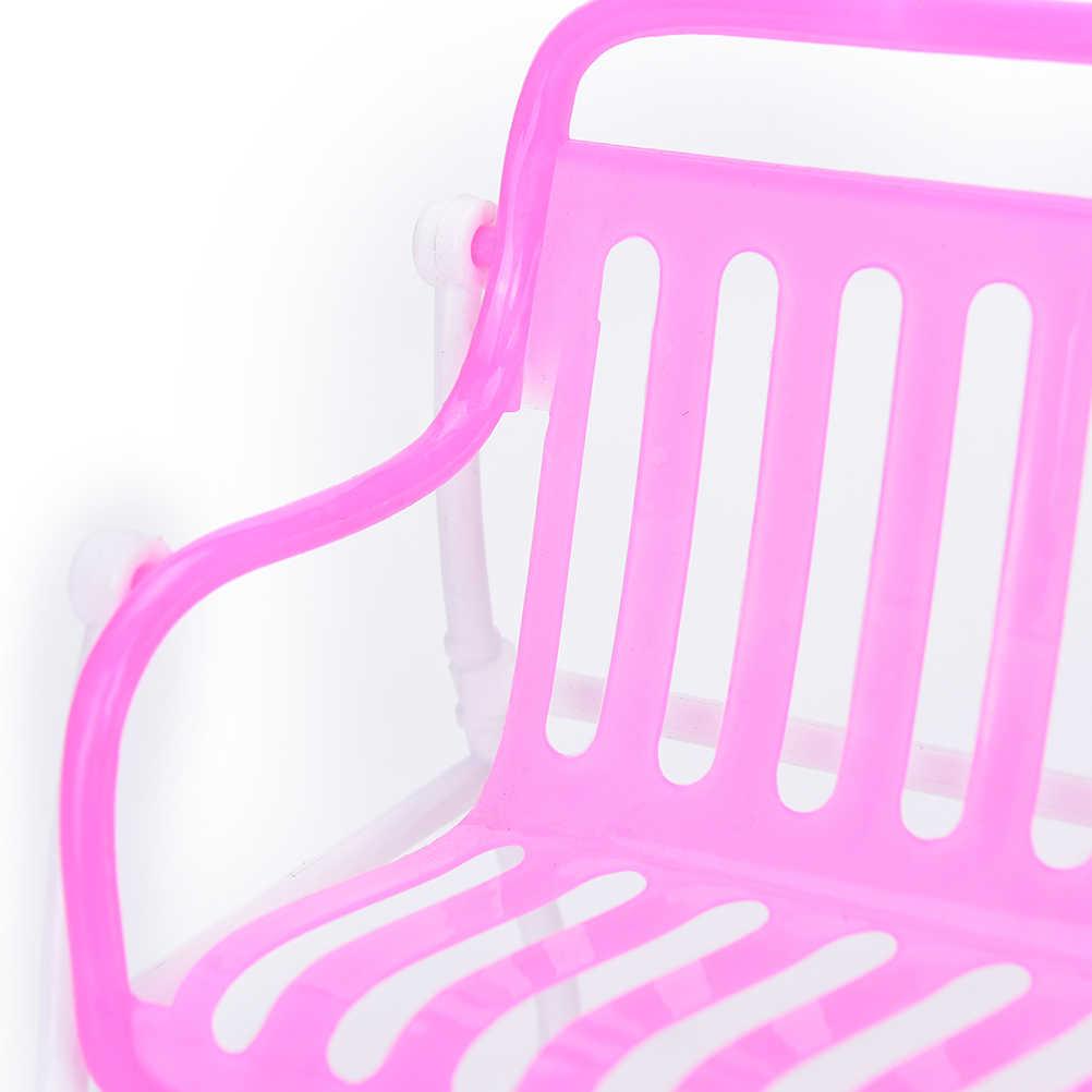 1 pc Melhores Presentes Mobiliário Sofá Cadeira Poltrona Lounge Para Móveis Acessórios de Casa de Boneca Princesa Da Boneca Rosa Das Meninas