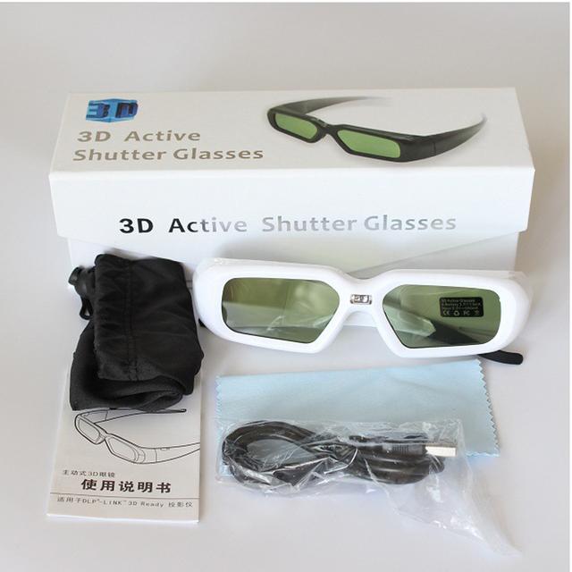 5 pcs óculos dlp do obturador óculos 3d para acer benq w1070/w750/w1080st compatível 96-144 hz dlp-link projetores
