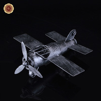 WR Metal Military Fighter Plane Model Old Fashion Airplane Handicraft Unique Decoration