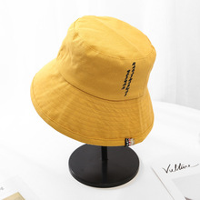 2019 Summer Letter Bucket Hat Caps Women Fisherman Panama Cotton Layer Fabric Sun Hats Casual Men Fashion Flat
