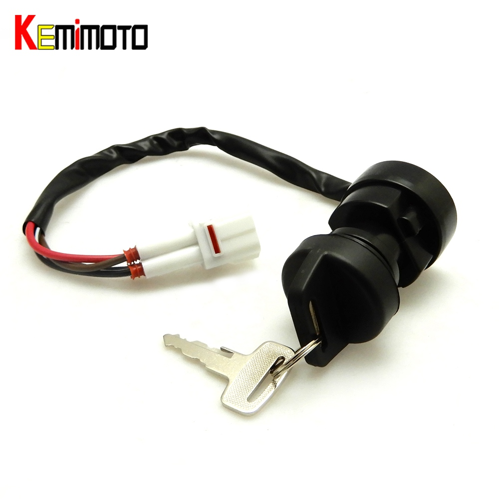 KEMiMOTO YFZ350 Switch Contorl Lock 2 Keys Ignition Key for YAMAHA Banshee 350 YFZ 350 1987 1988 1989 1990 1991 1992 1993 1994
