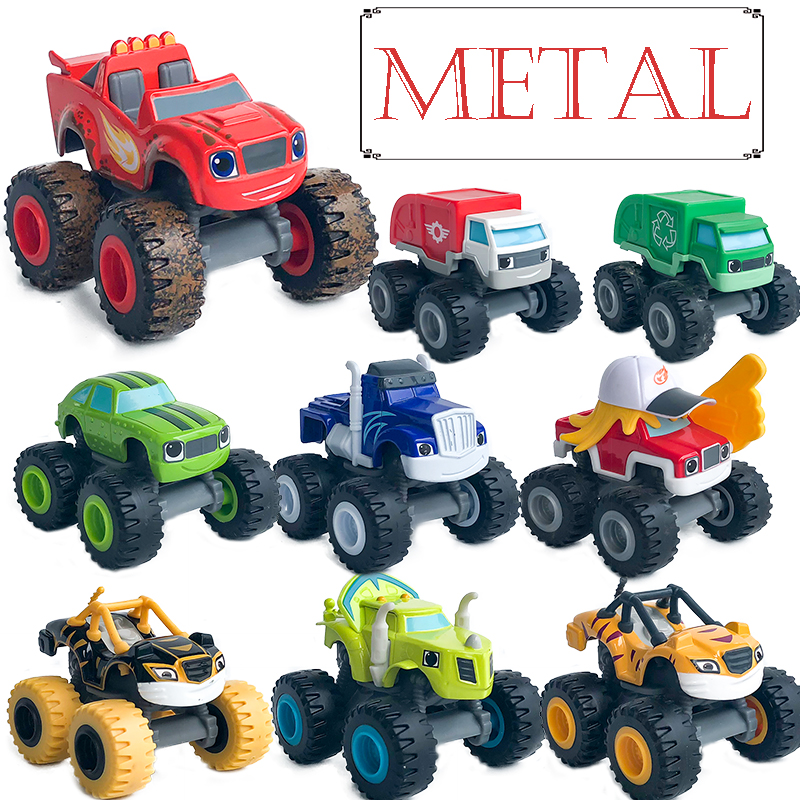 METAL Diecast Blazer Car Toys Russian Miracle Crusher Truck Vehicles Figure Toys For Children Birthday Gifts Kid Boy Toys