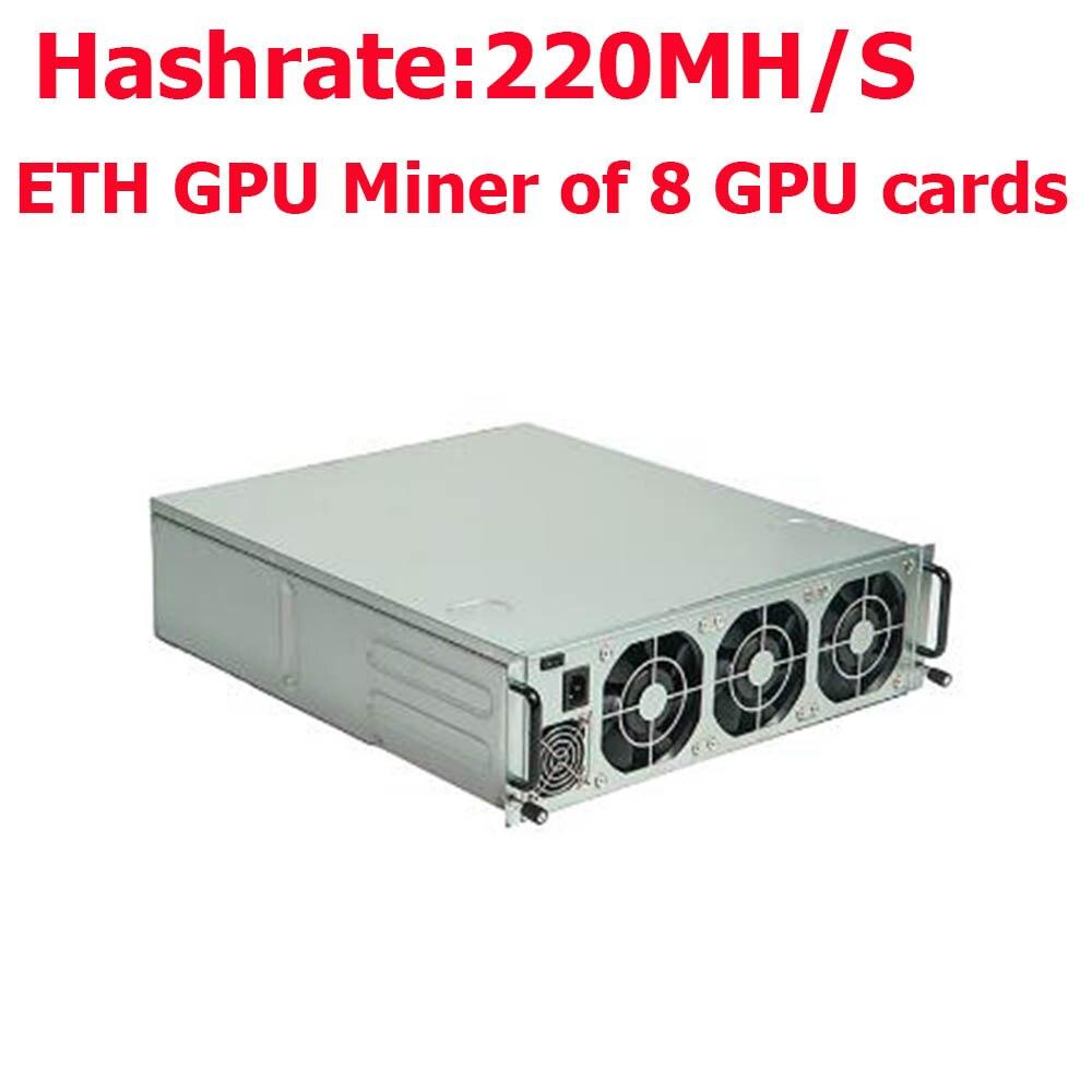 Российские клиенты tax free! Бесплатная доставка Antminer G2 Эфириума шахтер AMD RX570 GPU шахтер скорость хэш 220Mh/s с источника питания