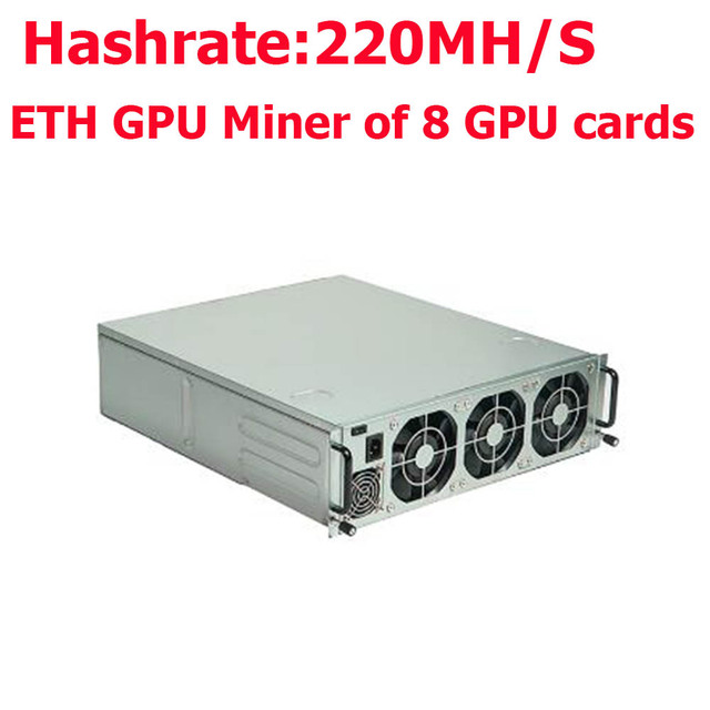 US $5600 0 |free shipping Antminer G2 Ethereum Miner of AMD RX570 GPU Miner  hash rate 220Mh/s with power supply-in Block Chain/Miner from Computer &