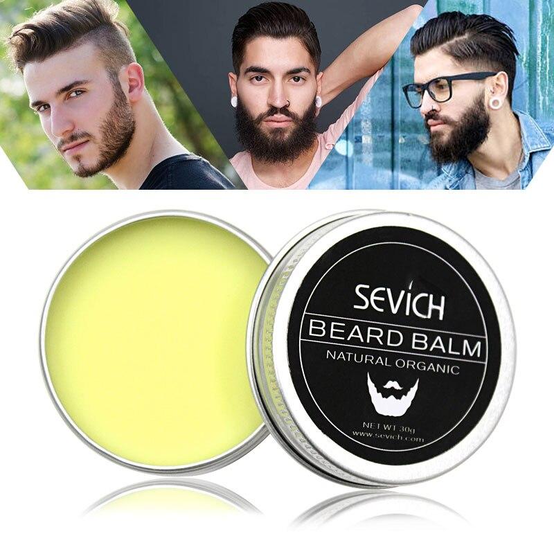 Sevich Men Beard Balm Leave Crema hidratante para el cuidado de la - Cuidado del cabello y estilo