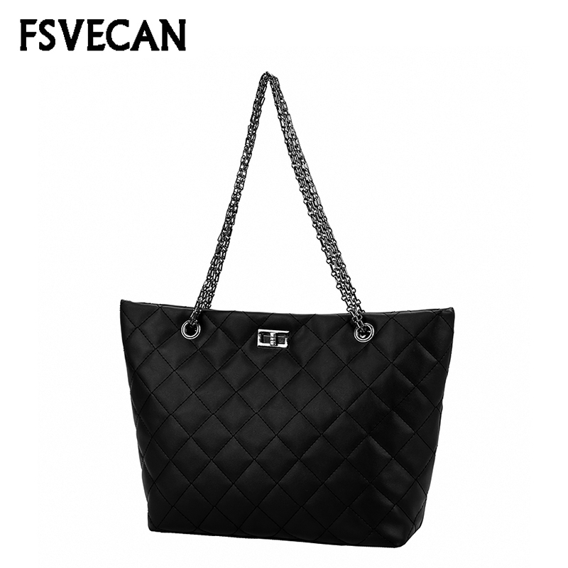 Casual Women Shoulder Bag Female Daily Shopping Travel High Quality Leather Bag Chain Strap Handbag Sac Bandouliere Femme 2019