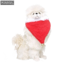 panDaDa 2018 New Triangular Towel With Golden Bells Christmas Pet Bandage Cute Holiday