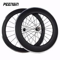 Rodas de liga de carbono roda de bicicleta na china alu c mista 23 rodado 700C OEM 60 & 90mm perfil em U Clincher freio liga aro suface
