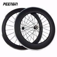 carbon alloy wheel for bike in china alu c wheels mixed 23 wheelset 700C OEM 60&90mm U profile Clincher rim alloy brake suface