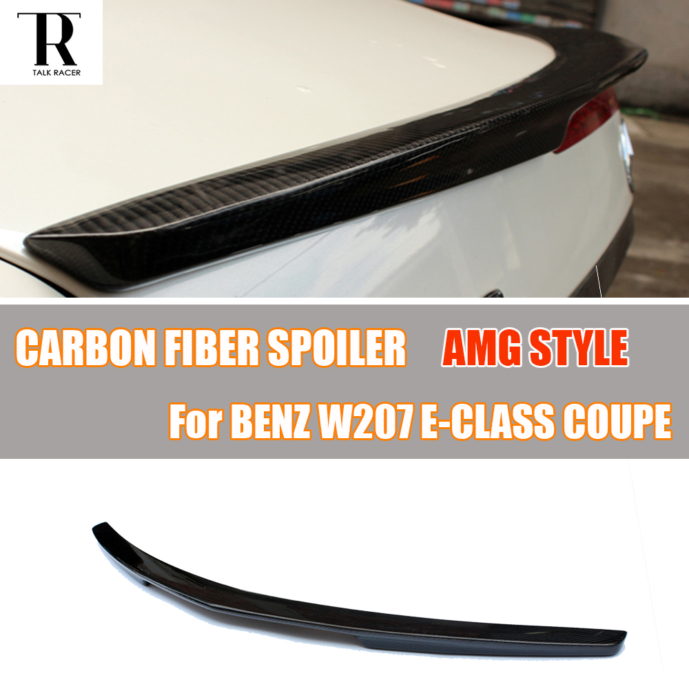 AMG Style W207 C207 Carbon Fiber Rear Wing Spoiler for <font><b>Mercedes</b></font> Benz E-CLASS <font><b>Coupe</b></font> 2 Door Only E200 E260 <font><b>E300</b></font> E350 2012 - 2016 image