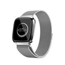 L18 Smart Bracelet Dynamic Heart Rate Blood Pressure Oxygen Fitness Tracker Metal strap