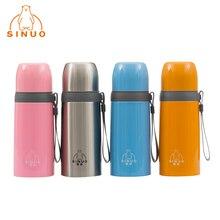 Marke Neue Sinuo 4 Farben Drink Edelstahl Tragbaren Thermoskanne Tasse Thermosflasche Thermoskanne Becher Flasche Gerade Tasse NB-350F-4
