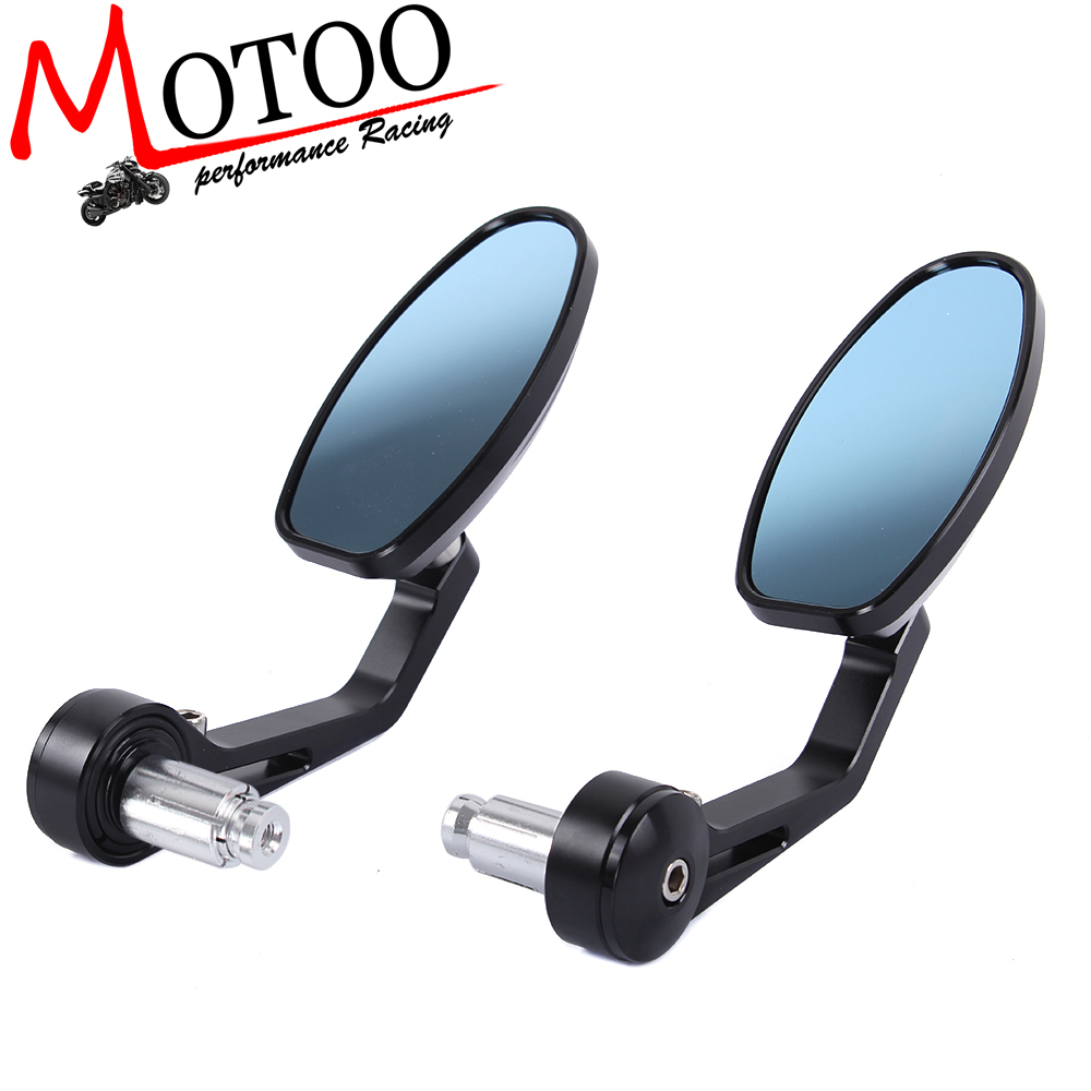 Motoo - 7/8 inch Handlebar Side end Mirrors Rearview Cruisers Choppers Motorcycle Street Bikes Aluminum Stem motorcycle parts co., LTD store