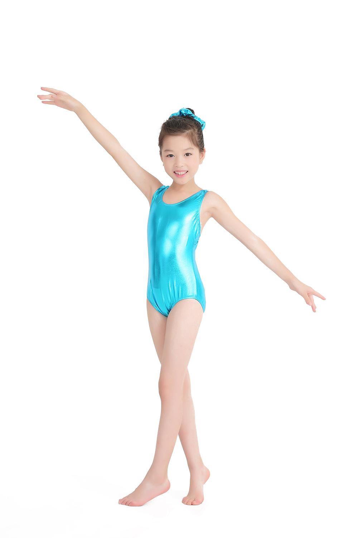 44614dbdcc3f 2019 Speerise Toddler Shiny Metallic Ballet Dance Leotards For Girls ...