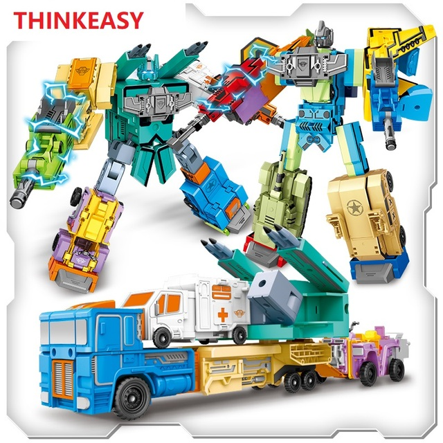 Creative Assembling Educational Toys 10 numbers symbols 3D math transformation robot digits puzzle Animals boy toy for Kids