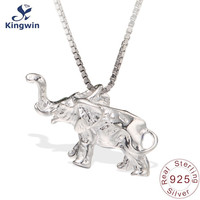 Sterling Silver Pendant Animal Charm Lovely Elephant Necklace Factory Supply 2015 Newest Design Fashion Jewelry Nice