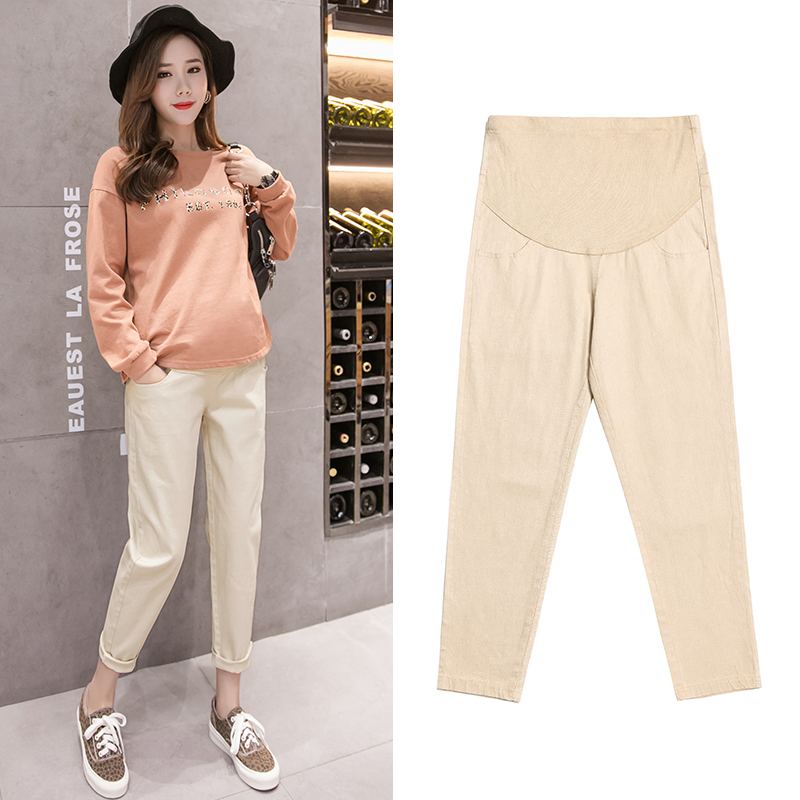 70e011992aec5 Cotton Maternity Pants Clothes Causal Trousers For Pregnant Women ...