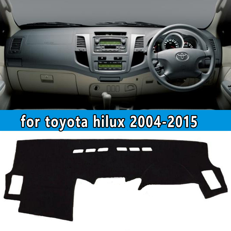 dashmats car-styling accessories dashboard cover for toyota hilux sw4 vigo pick up 2004 2005 2006 2007 2008 2009 12 2013 2015 цена