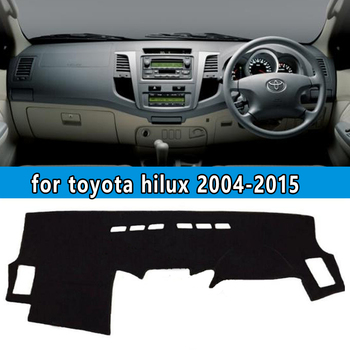 dashmats car-styling accessories dashboard cover for toyota hilux sw4 vigo pick up 2004 2005 2006 2007 2008 2009 12 2013 2015 image