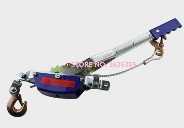 1T 2Ton ratchet cable puller hand wire rope puller wire rope ratchet ...