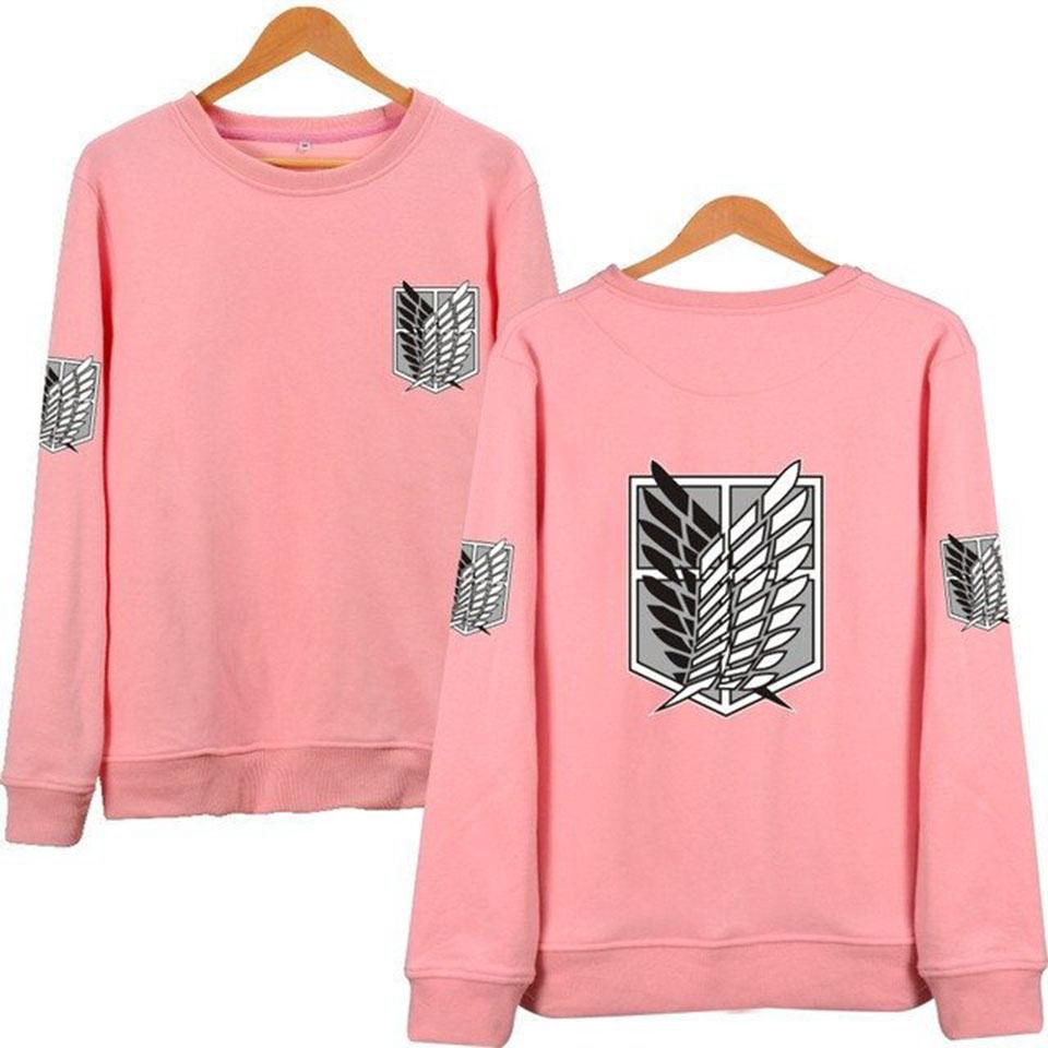 Attack On Titan pink Sweatshirts