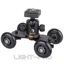 สีดำบนโต๊ะขนาดกะทัดรัดเล่นสเก็ตดอลลี่ชุดล้อรถบรรทุก18 blsที่มีB Eike BK-03ขาตั้งกล้องหัวบอลชุด
