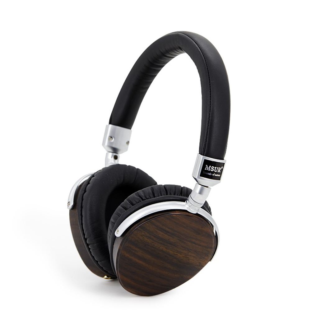 100% Original MSUR N350 Noise Isolating HiFi Wooden Metal Headphone Headset Earphone With Beryllium Alloy Driver Portein Leather new original msur n650 wooden metal hifi music dj headphone headset earphone with beryllium alloy driver portein leather