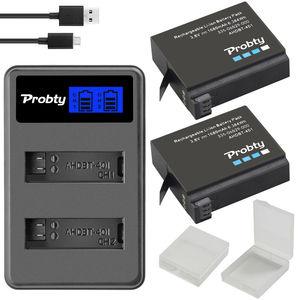 Image 2 - Originele probty Voor GoPro Hero4 Hero 4 batterij + LCD dual charger voor go pro AHDBT 401 HERO4 Zwart Zilver action camera accessoire