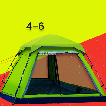 1pcs Camping Tent 5 person Outdoor Equipment Single room Family Tourism Beach Tents Waterproof tent