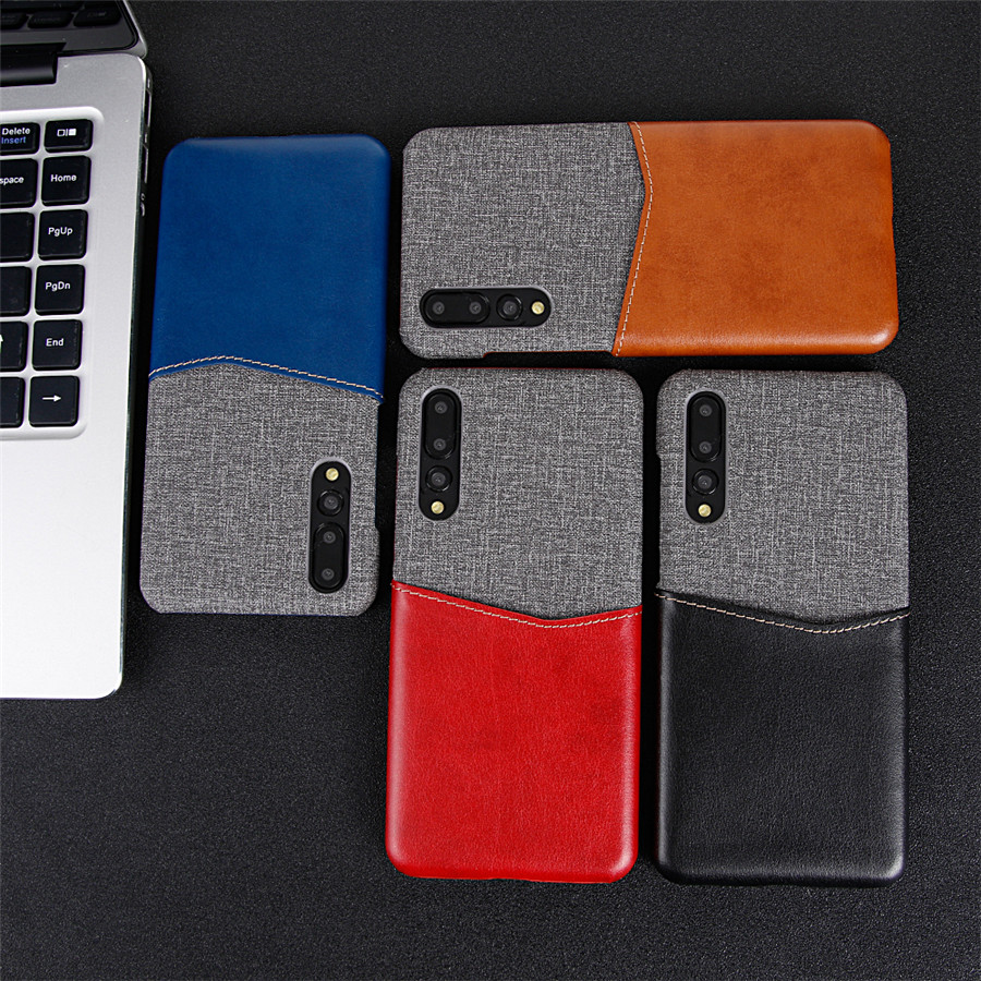 Huwei P20 Pro Case Luxury Leather Soft Fabric Card Slot Holder Hard Back Cover For Huawei P30 Mate 20 10 9 Pro Lite X Case Etui