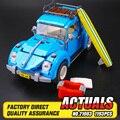 2016 LEPIN 21003 Creador de la Serie Volkswagen Escarabajo modelo de Coche de La Ciudad Bloques de Construcción Compatibles Azul Técnica de Coche de Juguete 05007