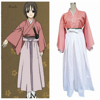 Ainclu Free Shipping Hakuouki Anime Cosplay Kimono Yukimura Chitsuru Halloween Costume Tailor made/Customize for adults and kids