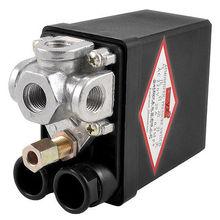 AC 220 В 115PSI 20A 4-портовый Воздушный Компрессор Насос Датчик Давления Регулирующий Клапан