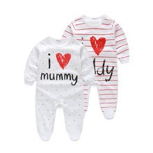 2016 cute baby clothes long sleeve striped baby
