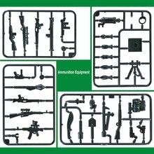 33pcs moc Military Weapon Building Blocks SWAT World War 2 WW2 Army soldiers Weapon Kids Brick