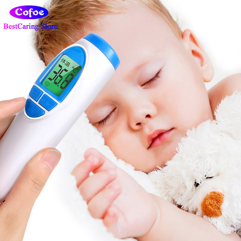 Cofoe infrared thermometer fever thermometer for baby forehead digital electronic LCD no-contact temperature meter adults cofoe thermometer body temperature fever measurement forehead non contact infrared lcd ir digital tool device for baby child