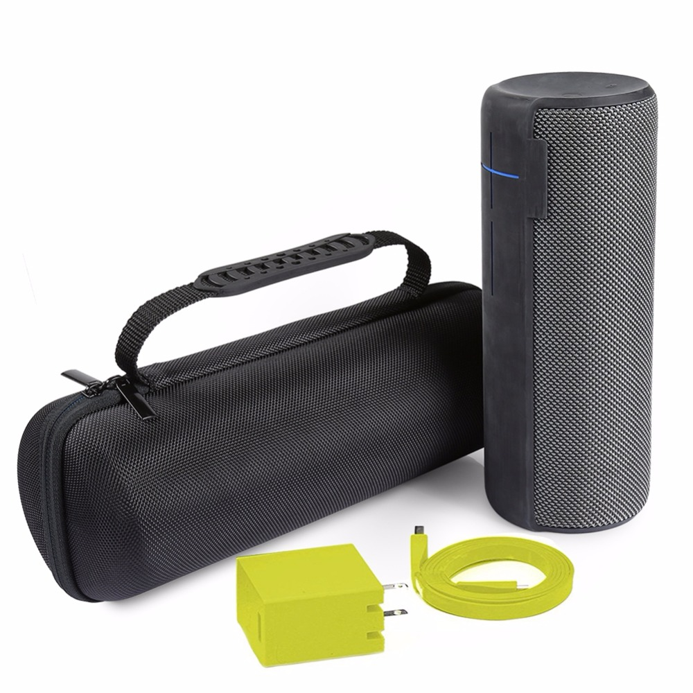 Classic Zipper Wireless Bluetooth Speaker Case For Logitech UE Megaboom Double Extra Space For Charger Cable Protective Box