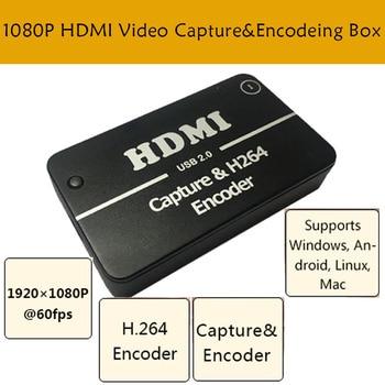 HDMI  Encoder 1080P video capture box HDMI capture card HDMI USB camera Free driver