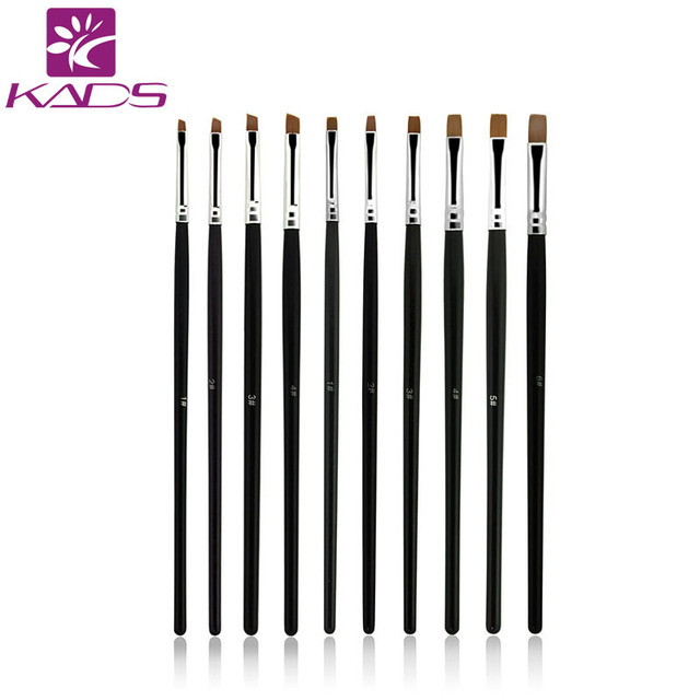 KADS 10pcs/SET Nail Art Design Brush Spiral Gel Pen Tips Tool for nail brush,nail tool ,10 size set.professional nail art brush