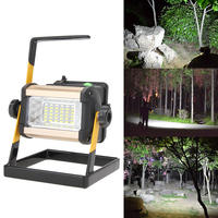 Rechargeable Floodlight 50W 36 LED Lamp Portable 2400LM Spotlight Flood Spot Work Light Waterproof for Outdoor Camping Lamps