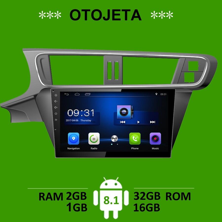OTOJETA accessoire de voiture pour Citron C3-XR gps navi android 8.1 stéréo bluetooth autoradio magnétophone carplay joueurs headunit FM