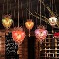 Турция Стиль маленькая люстра Юго-Восточной Азии стиль персонализированный обеденный стол стеклянная подвеска для бара лампа Почтовая дос...