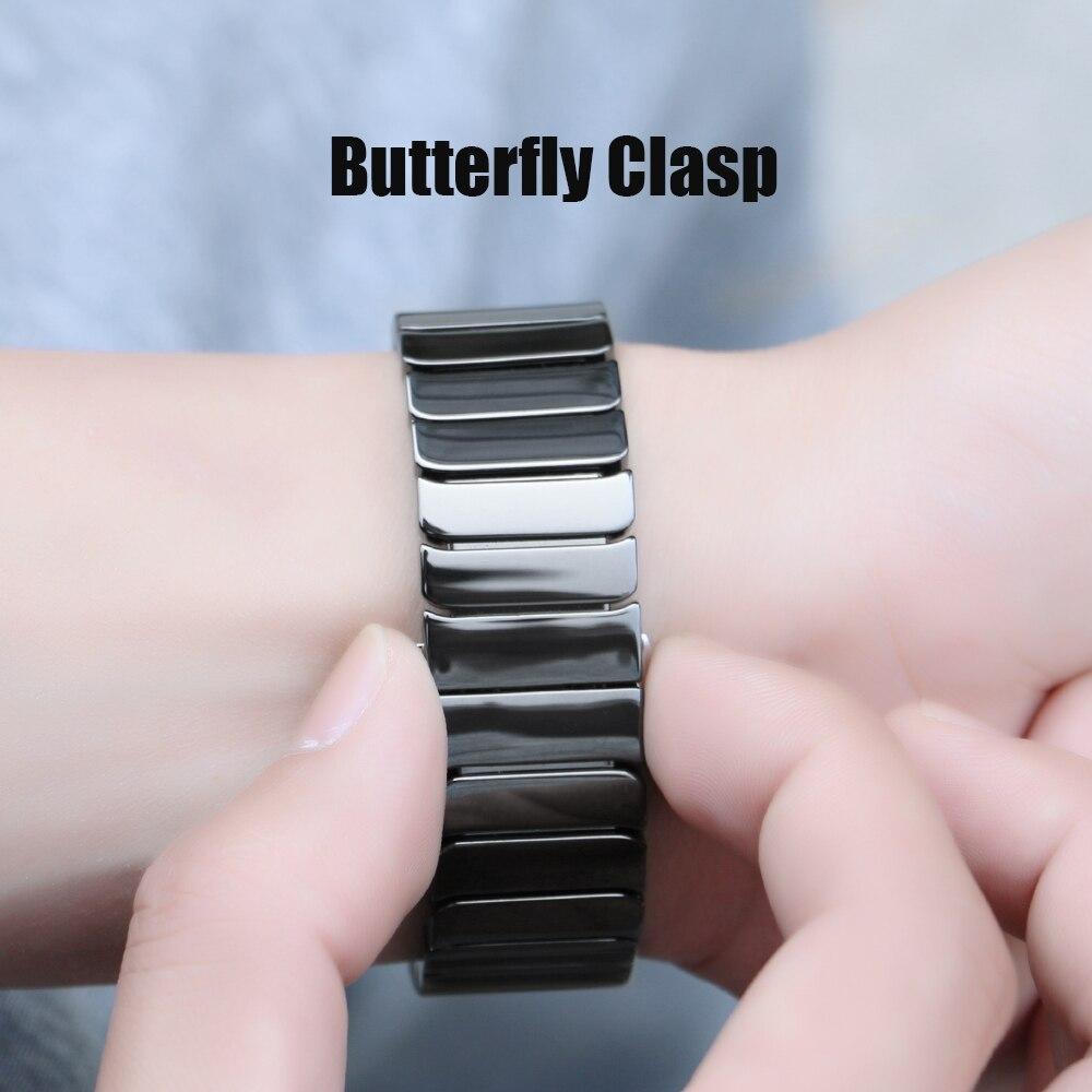 SIKAI 22mm Universal Ceramic Bracelet for Moto 360 for Samsung Gear S3 Wrist Watch Band Replacement Smartwatch Watch Strap недорого