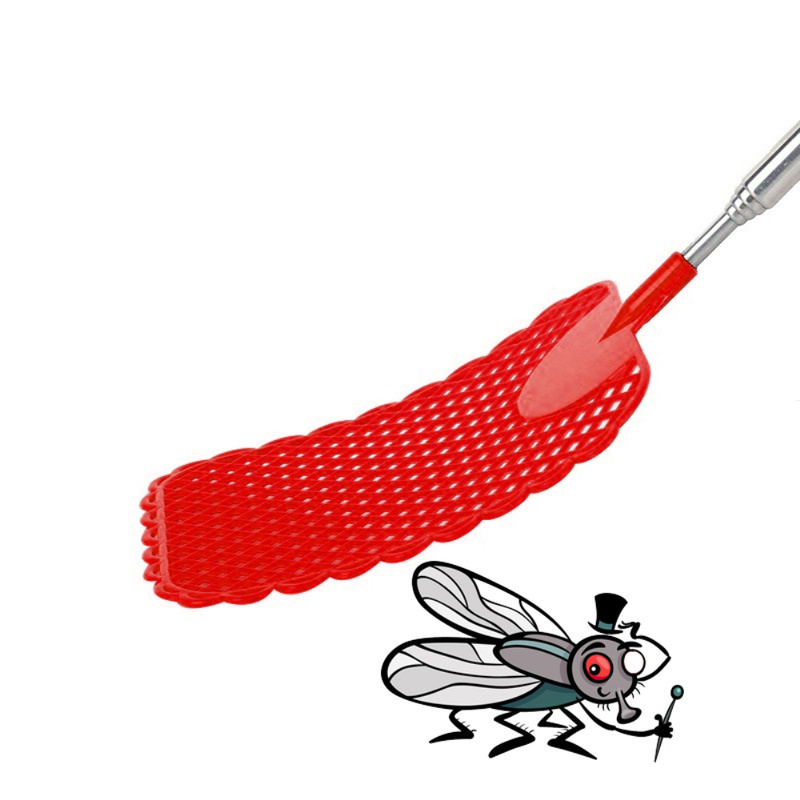Pest/Mosquito-killing Tool Fly Killer Fly Racquet/Racket Plastic Handheld Portable Telescopic Retractable Fly Swatter 1pc