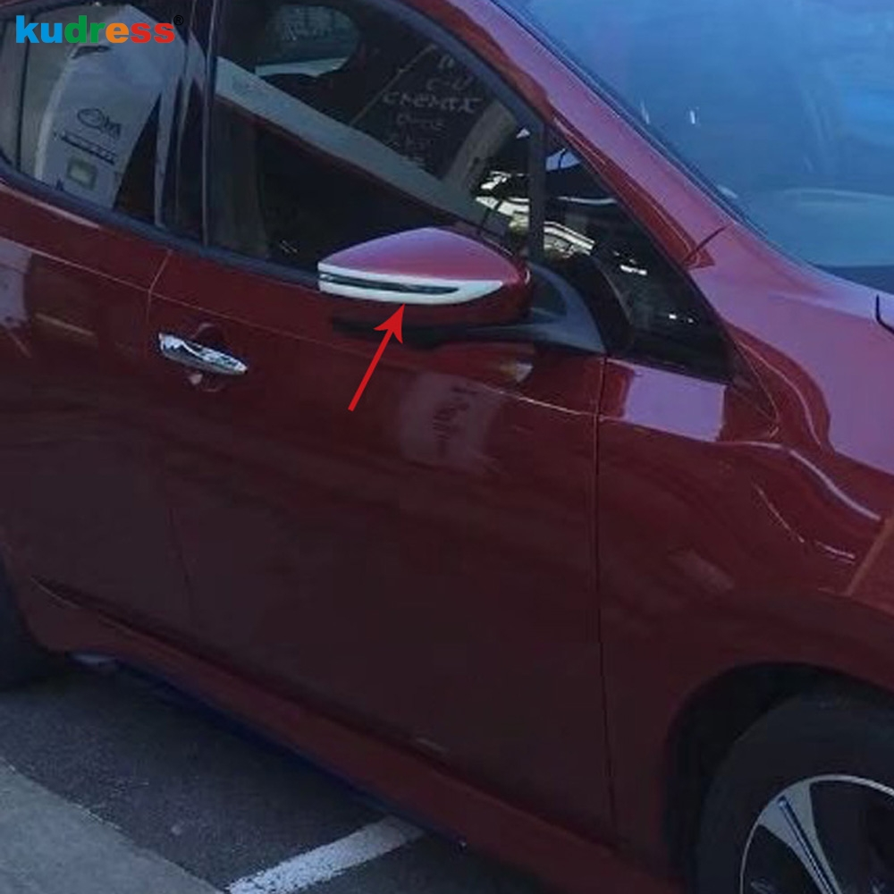 Nissan Leaf 2017 >> Us 14 45 17 Off For Nissan Leaf 2017 2018 2019 Rearview Door Side Wing Mirror Cover Trim Strip Decoration Car Accessories With Turn Light Model In