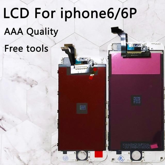 """Para el iPhone 6 pantalla LCD de reemplazo de digitalizador de pantalla táctil de 5,5 pulgadas calidad AAA No píxel muerto para el iPhone 6 plus pantalla LCD de 4,7"""""""
