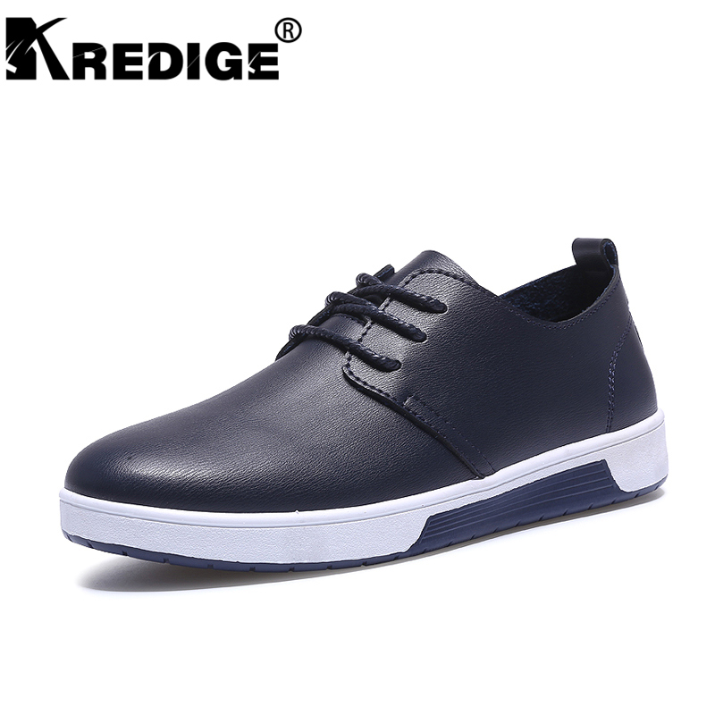 KREDIGE genuine leather casual shoes British fashion leisure breathable men shoes lace-up designer height increasing shoes 39-44