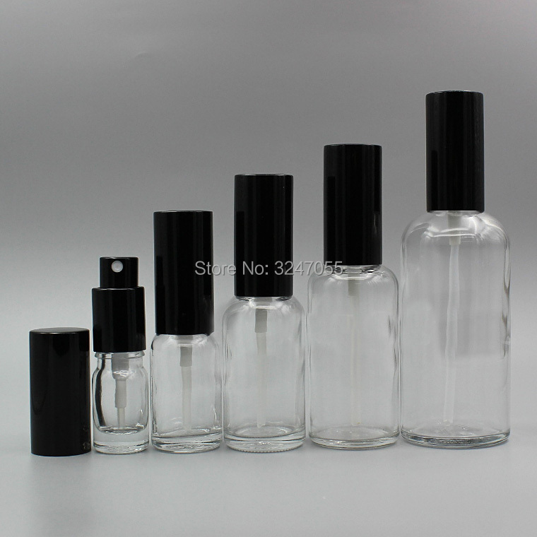 10Pieces 20Pieces 5/10/15/20/30/50/100ml Empty Clear Cosmetic Toner Bottle,DIY Glass Perfume Spray Bottle,Portable Vial Atomizer